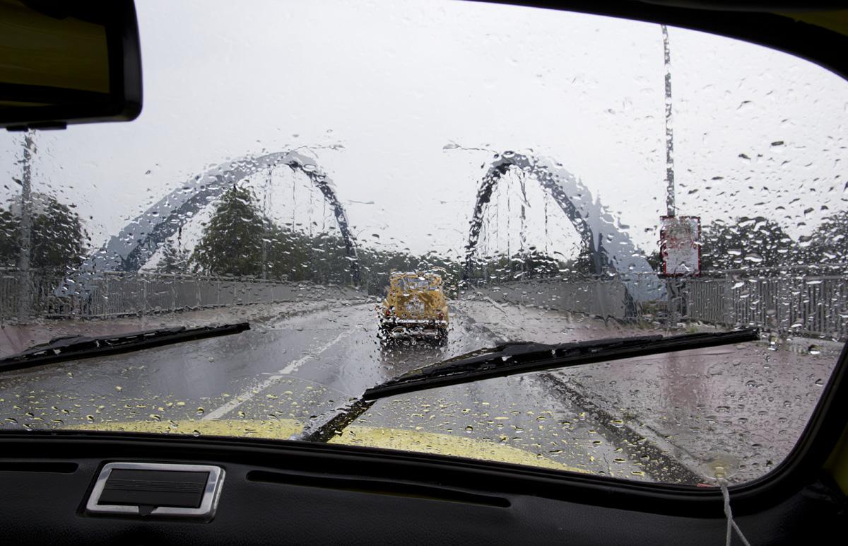 Rückfahrt durch den Emsländischen Regen.