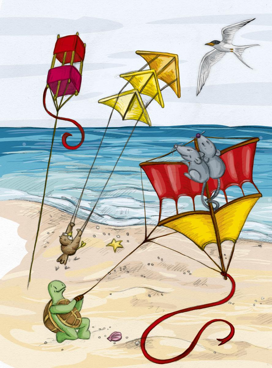 Drachenfestival am Strand von Bali und die Freunde mittendrin!