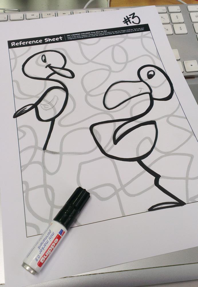 Beep! – Mein Ergebniss sind zwei komische Vögel.