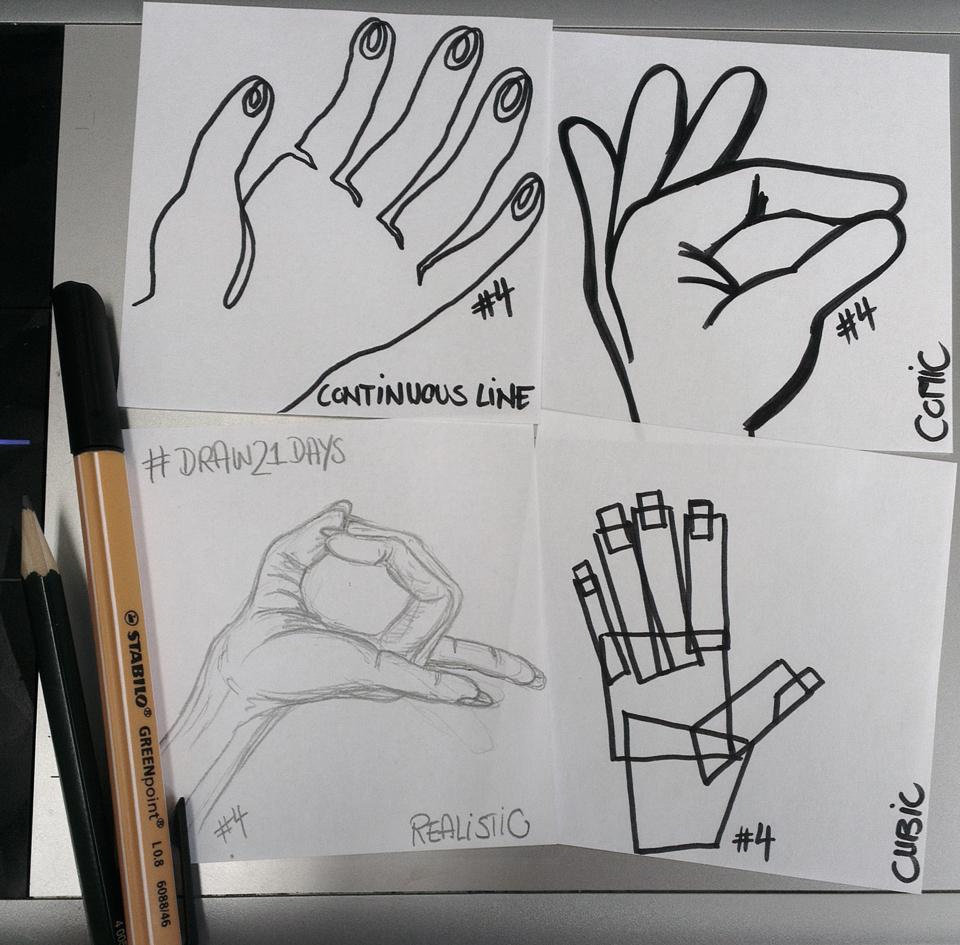 Das mach ich doch mit rechts: Meine linke Hand in vier Stilen.