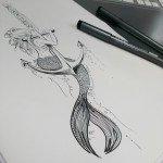 Motiv für Sketch Dailies: Sirene