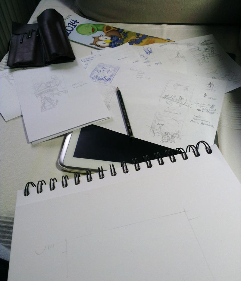 Los geht's mit Gekritzel und Geschreibsel – Ideen finden, Ideen sammeln…