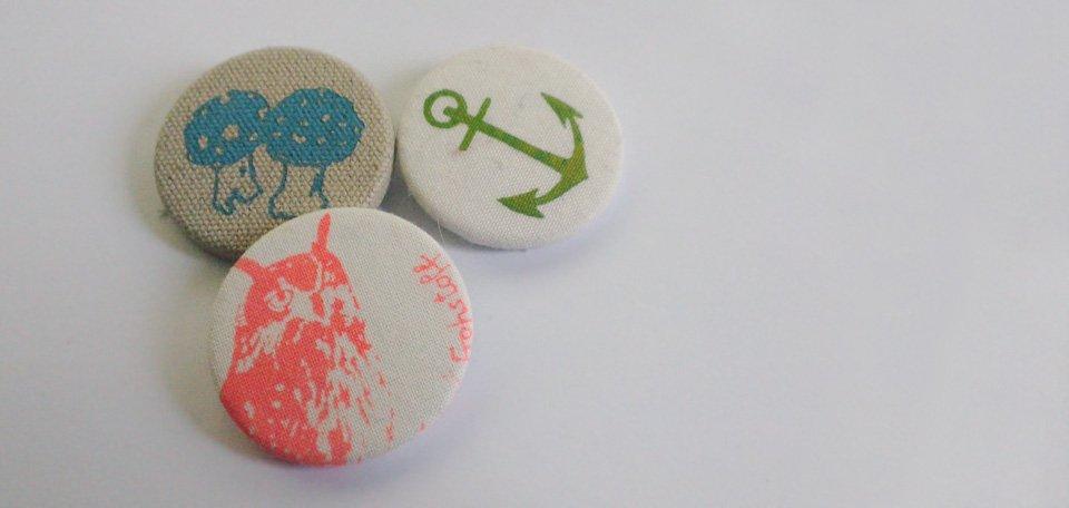 Zeichen setzen mit den individuellen Stoff-Buttons von frohstoff.