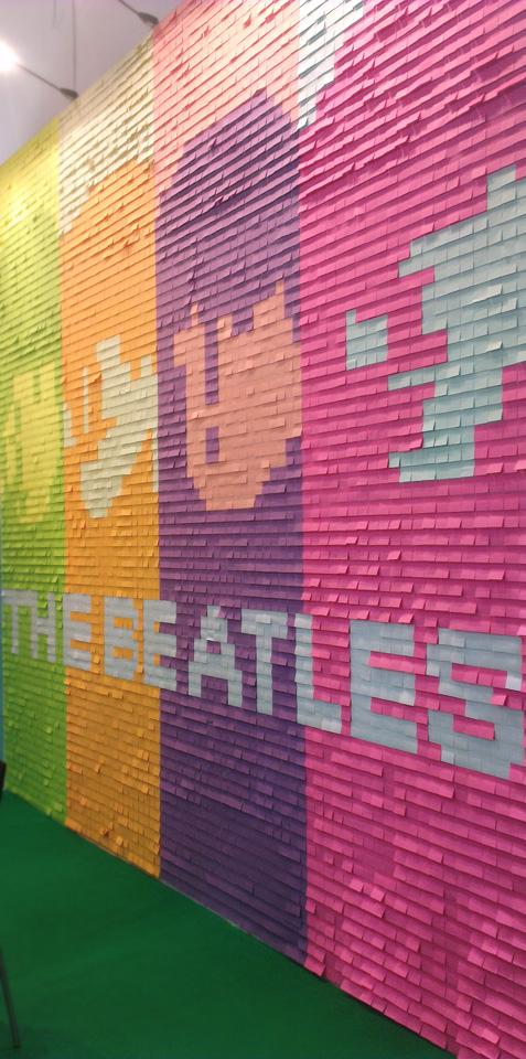 Kleine Haftnotizen - großes Kunstwerk: The Beatles