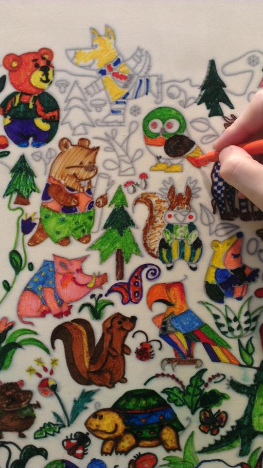 Mein Beitrag an der Wand von Elfmarket - die kleine Eule in Kanada.