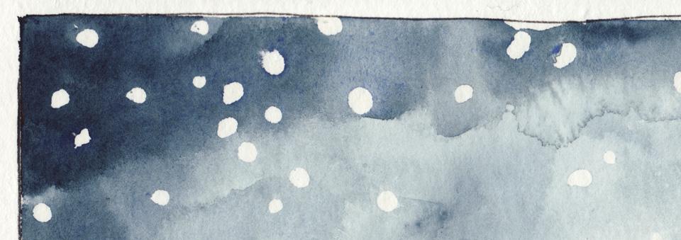 Detial auf dem Bamboo Papier - die Farbe wird schön wolkig.