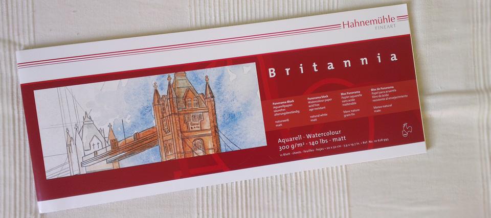 """Akademie Aquarellpapier """"Britannia"""" im Panorama Format."""