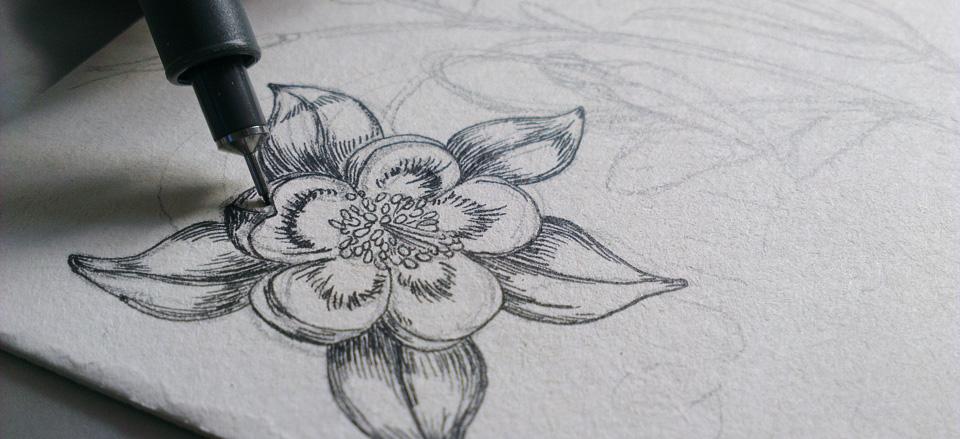 """Strich für Strich, Punkt für Punkt entsteht die """"Black Flower"""""""
