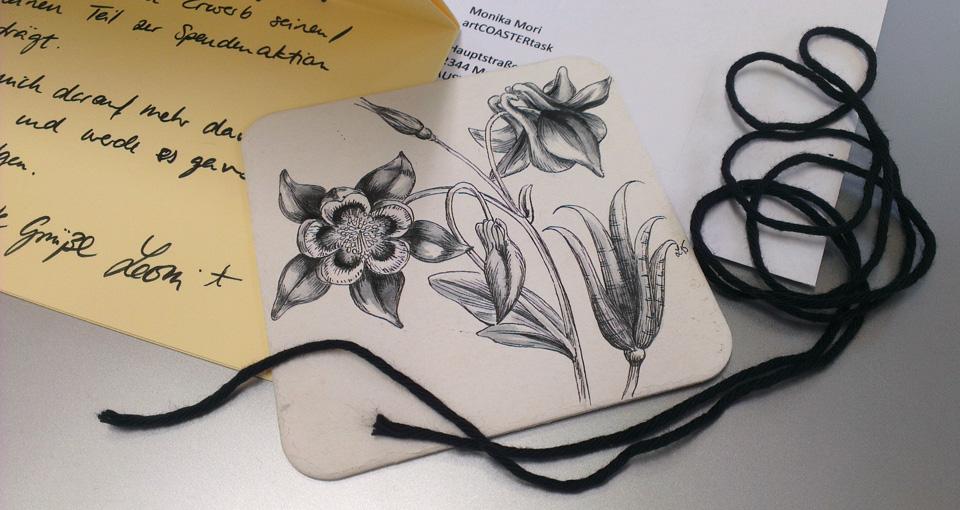 Und nun: Ab die Post! Meine Schwarze Blume macht sich auf die Reise.