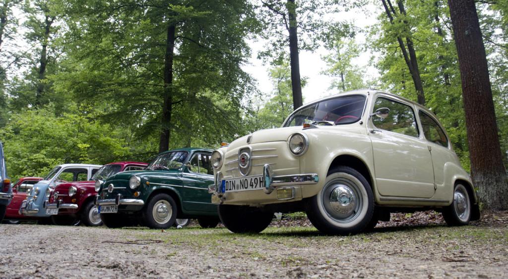 Endlich wieder mit von der Parie: Der cremefarbene NSU Fiat hat neue Besitzer.