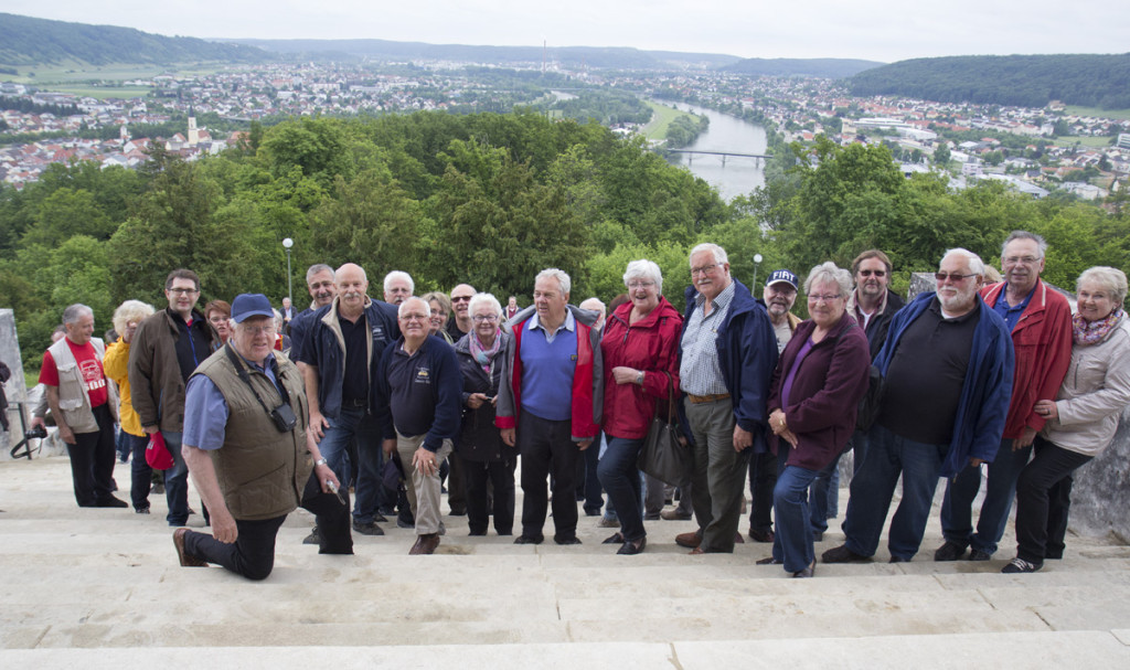 """Gruppenfoto """"von oben""""."""