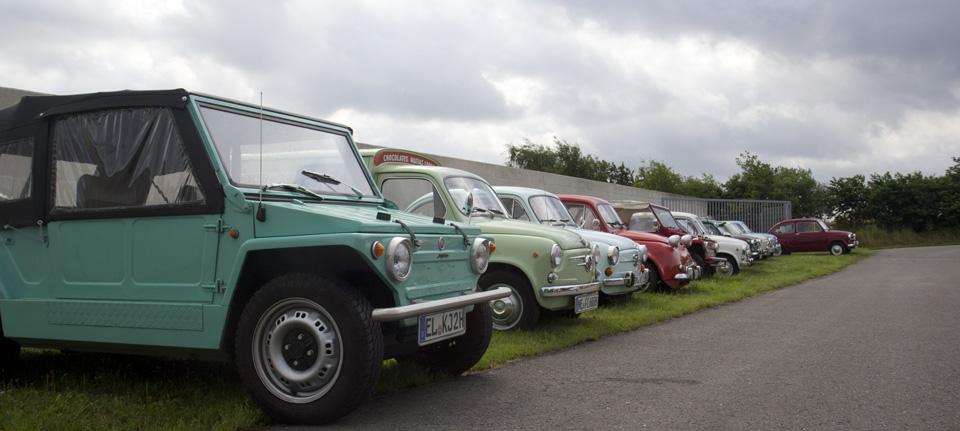 Mit dreiundzwanzig Fiat 600 Freunden…