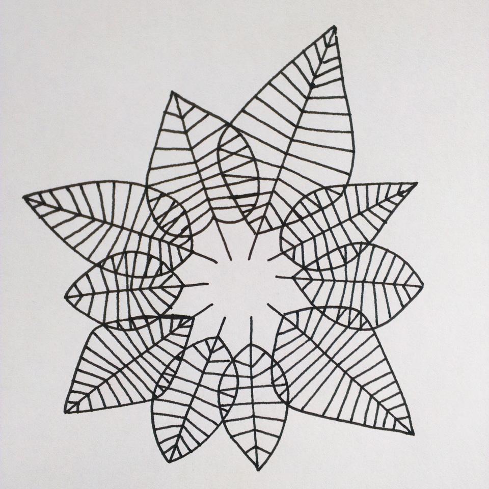 Der Herbst ist da – grafische Darstellung von Blättern.