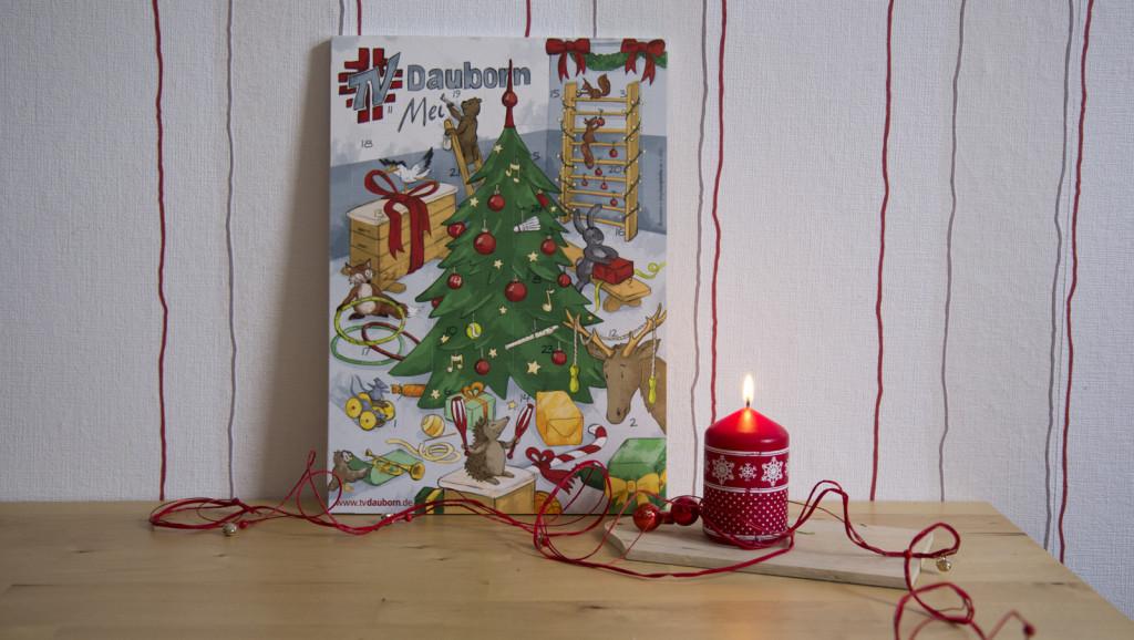 Schon etwas Adventsstimmung mit dem Schokoladen-Adventskalender für meinen Turnverein.