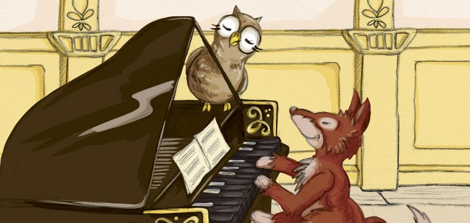 »Guck mal Schuhuu, das Klavier hat die Tasten falsch herum!«