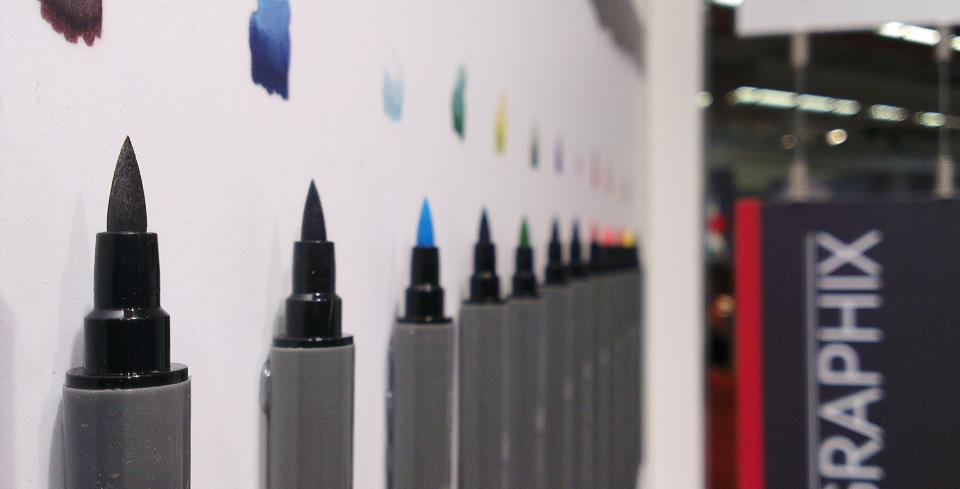 Pinselspitzen nun auch bei Marabu: Der Graphix Aqua Pen.