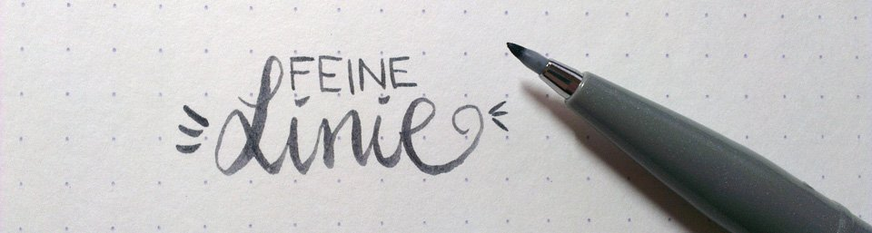 Feine Linie mit schönem Duktus dank Pentel Brush Sign (Touch) Pen