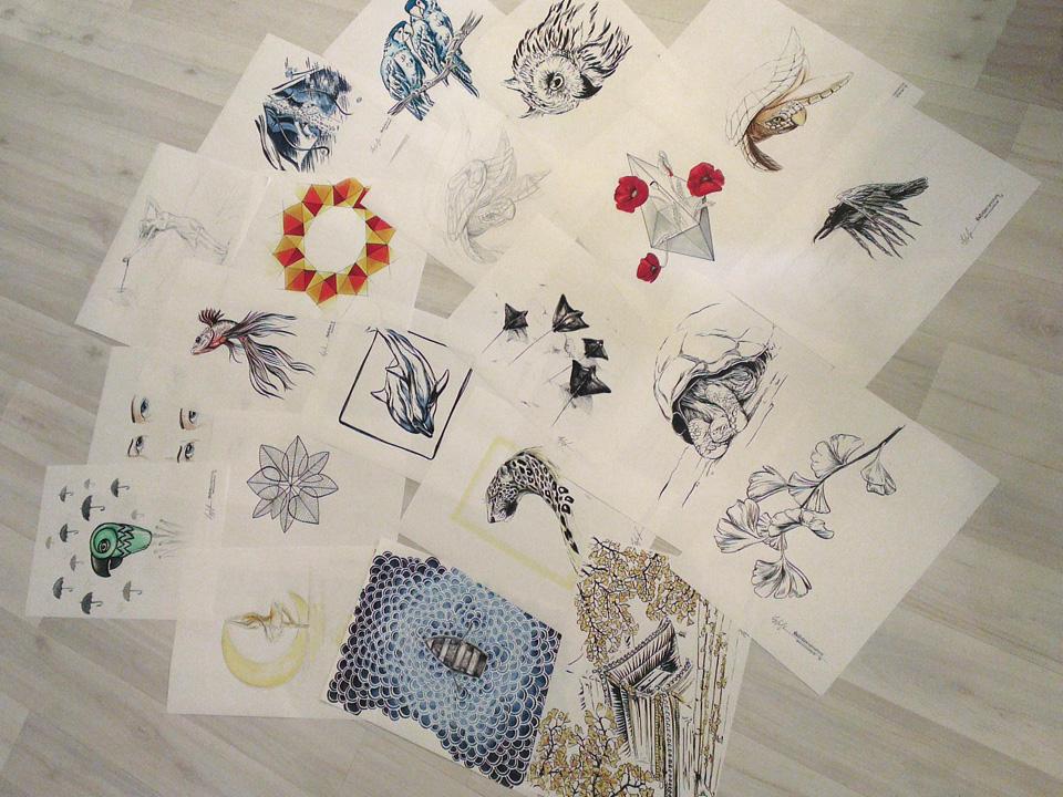 Ab die Post - zwanzig Skizzen für Hahnemühle.