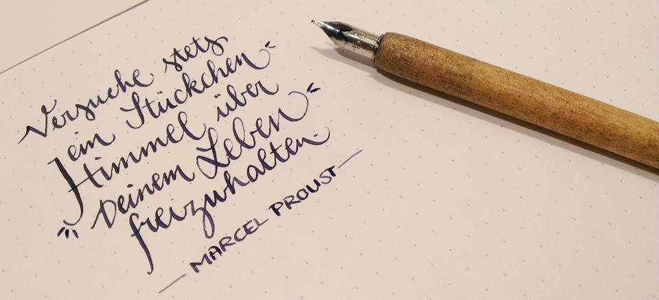 """""""Versuche stets ein Stückchen Himmel über Deinem Leben freizuhalten."""" – Marcel Proust"""