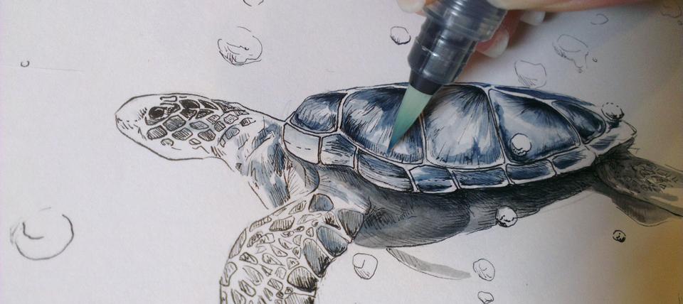 KW 10: Colorieren mit Aquarellfarben – das habe ich sehr vermisst.