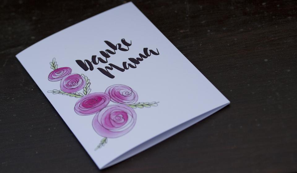 """""""Danke Mama"""" – eine der vier Karten zu deren Download Ihr einen Kommentar hinterlassen müsst."""