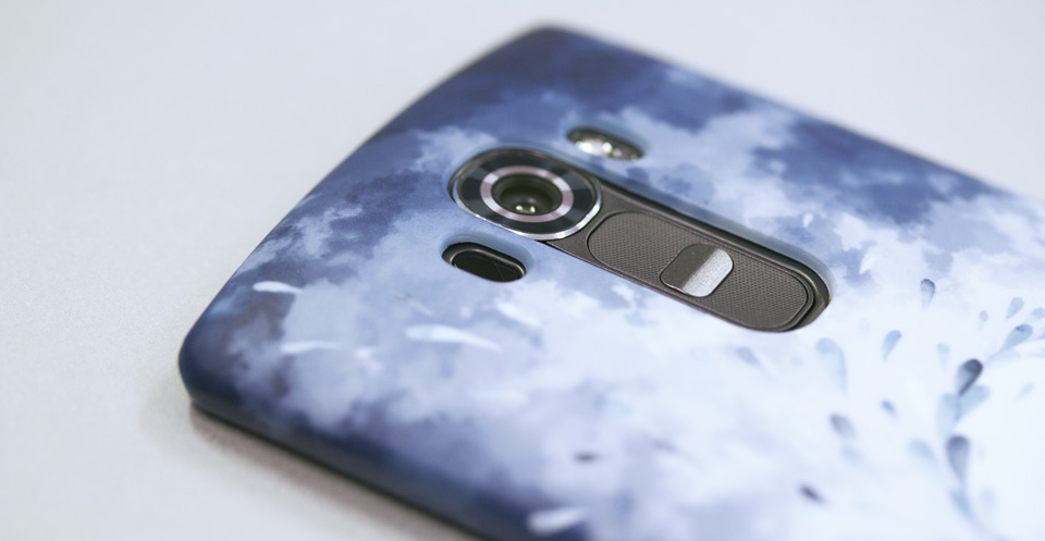 Passt perfekt - Die Ausschnitte für Kamera, Blitz, Sensor und Tasten auf der Rückseite des LG G4.