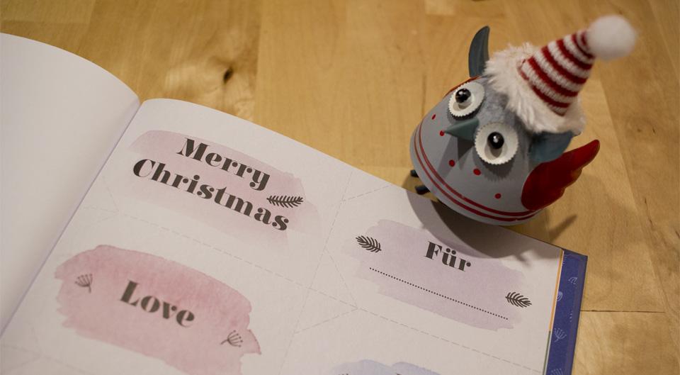 Ein Geschenk zum Schluss: Geschenkanhänger zum Heraustrennen.