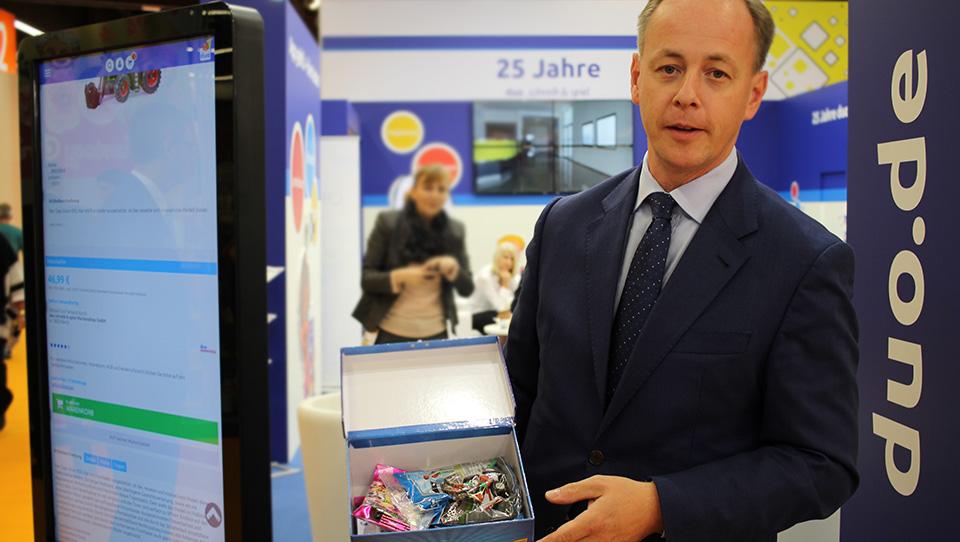 Der Fachhandelsverband Duo stellte sein Konzept des virtuellen Ladenregals vor.