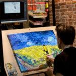 Lovin Vincent - Arbeit mit Ölfarben anhand einer projizierten Skizze.