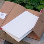 Das Buch im Buch - Mit etwas Vorsicht lässt sich das Inlay leicht aus dem Umschlag nehmen.