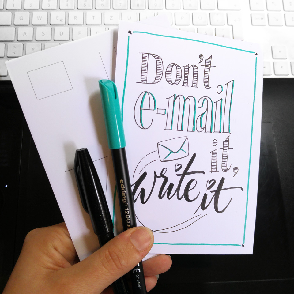 Don't e-mail it, write it!