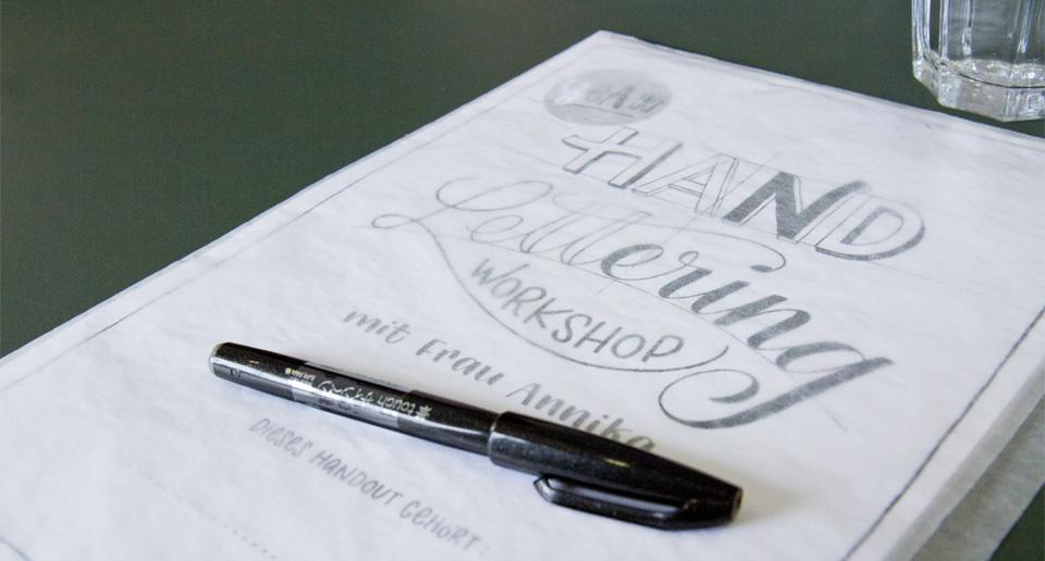 Eins für jeden Teilnehmer: Das Handout zum Workshop mit Frau Annika.