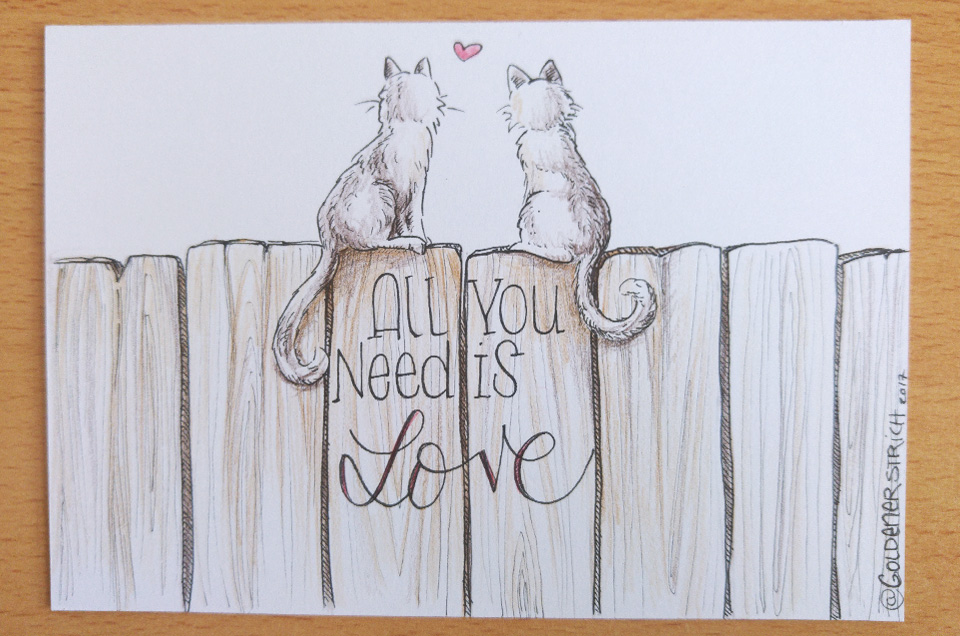 """All you need is Love"" inspiriert von den Aristocats."