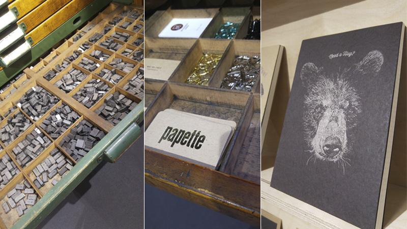 Da geht mein Herz auf: Letterpress und Hotfoil Produkte für den schönen Schreibtisch von Papette aus Belgien.