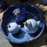 """""""Blaue Vögel"""" auf dem Krammarkt."""