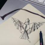 Little Origami Bird im Moleskine