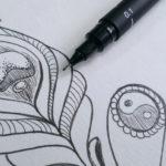 5 Minuten Skribbeln – Feder