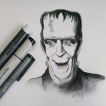 """Always loved Herman Munster and his snoots. Sketch Dailies Thema """"Frankenstein"""" erinnerte mich an einem einer Lieblingsserien in der Kindheit."""