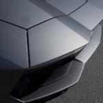 Wie Origami – der Lamborghini Aventador war im Aussenbereich zu erwerben.