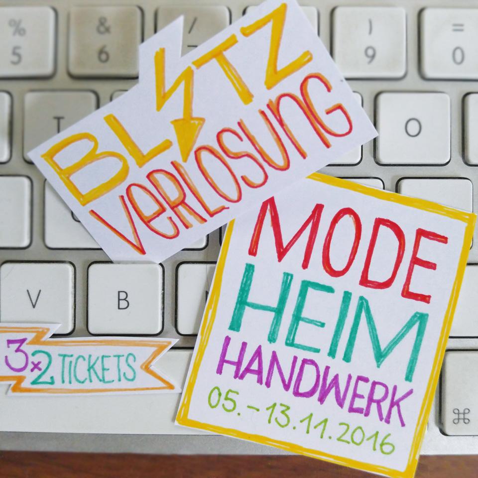 BLITZVERLOSUNG! 3x 2 Tickets für die Mode Heim Handwerk.