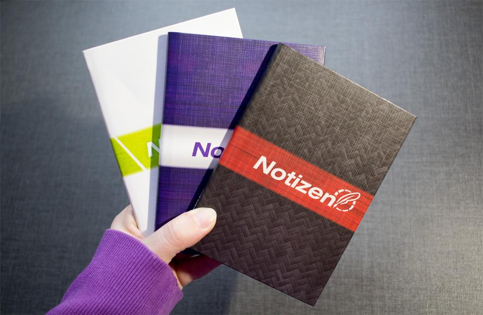 Drei kleine Notizbücher vom Häfft Verlag für Euch!
