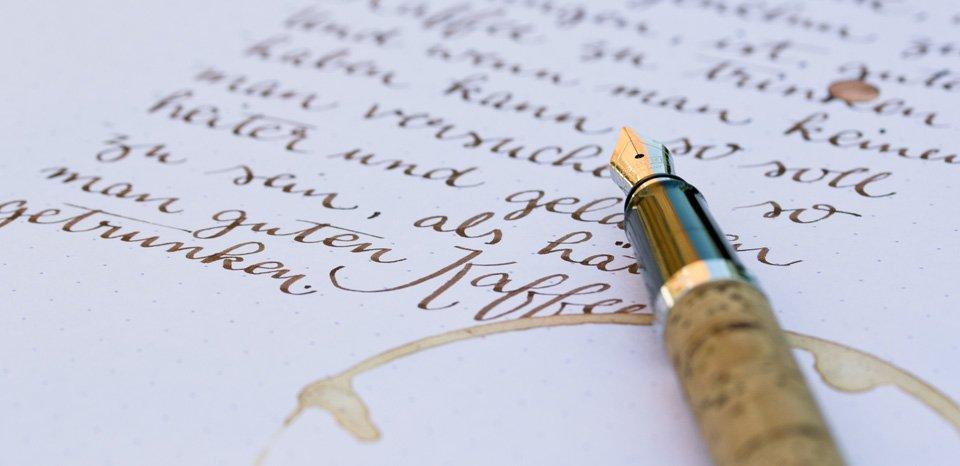 Handschriftlich etwas fest halten - besonders schön mit einem passenden Füller.