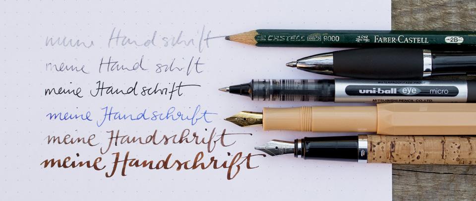 Meine Handschrift – seit dem vielen Lettering und Schönschreiben hat sie sich sehr verändert.