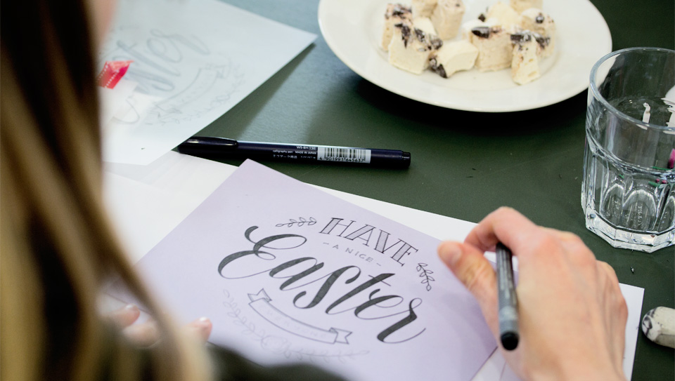"""""""Have a Happy Easter…"""" - Eine Grußkarte zu Ostern entsteht."""