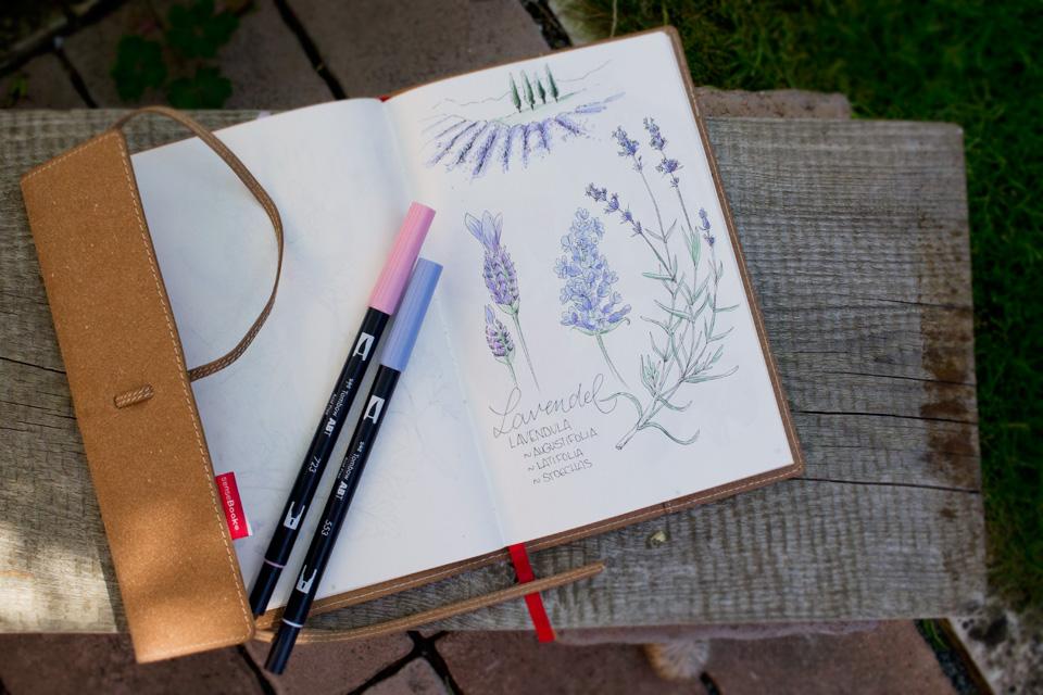 Kolorieren im Sensebook geht auch mit den wasserbasierten Tombow Brushpens sehr gut.