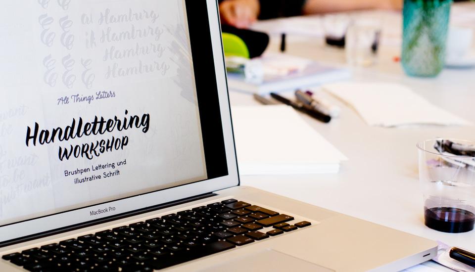 Handletterung Workshop - Brushpen Lettering und Illustrative Schrift mit Chris Campe