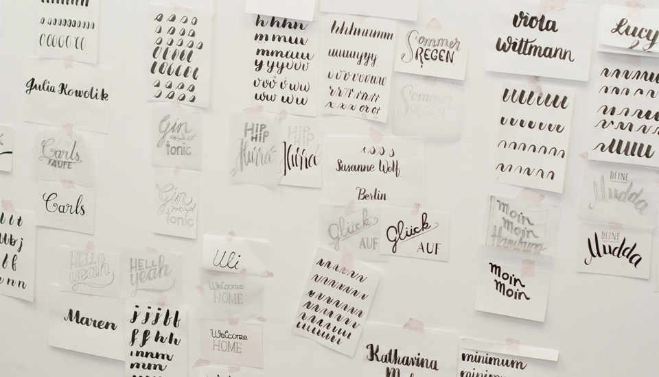 Wall of Lettering: Ein Blick auf unser Schaffen zum Abschluss.