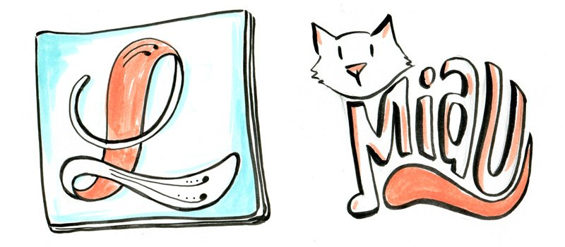 Schöne Zeichen setzen - mit Julia Kerschbaumer wird Schrift sehr illustrativ genutzt.