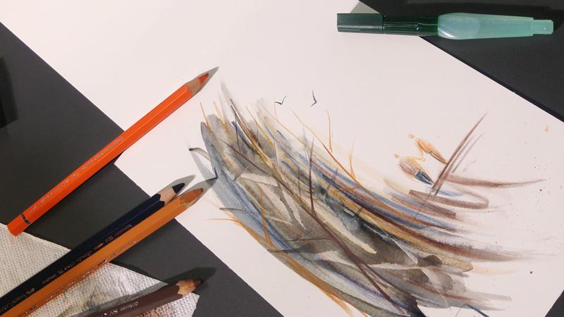 Ergebnis des Urban Sketching Workshops mit Faber-Castell Albrecht Dürer.