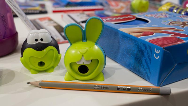 Spitzer Bunny und Frosch: Während der Stift gedreht wird, bewegen sich Zähne bzw. die Augen.